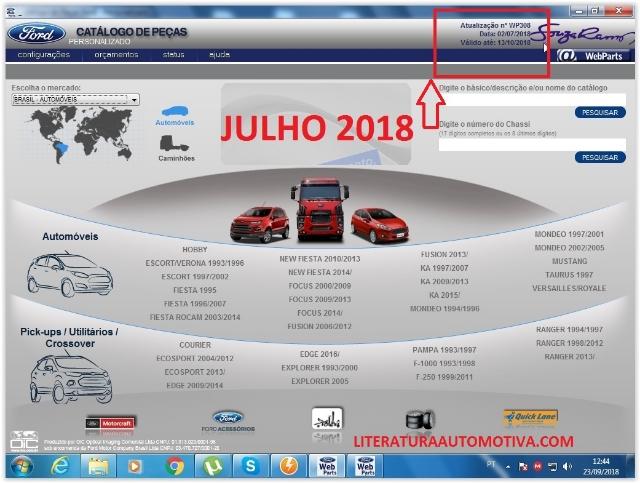 Catálogo de peças eletrônico Ford JULHO 2018 - Auto e Caminhões