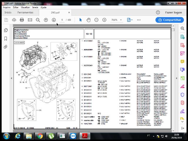 Catálogo de peças MF 290