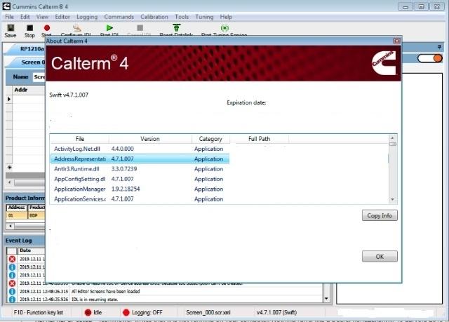 Cummins Calterm v4 (4.7.1.007 + MetaFiles) [10/2019] + Keygen