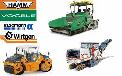 Catálogo de peças eletrônicas HAMM, WIRTGEN, VOGELE, KLEEMANN, STREUMASTER