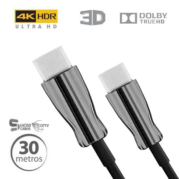 Cabo Hdmi 2.0 4k Fibra Óptica 19 Pinos UltraHD 30 Metros -CHF4K-30