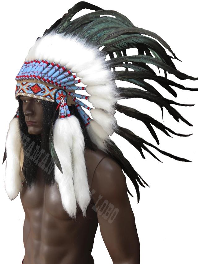 Cocar Indígena Americano Mod Luxo (1004)