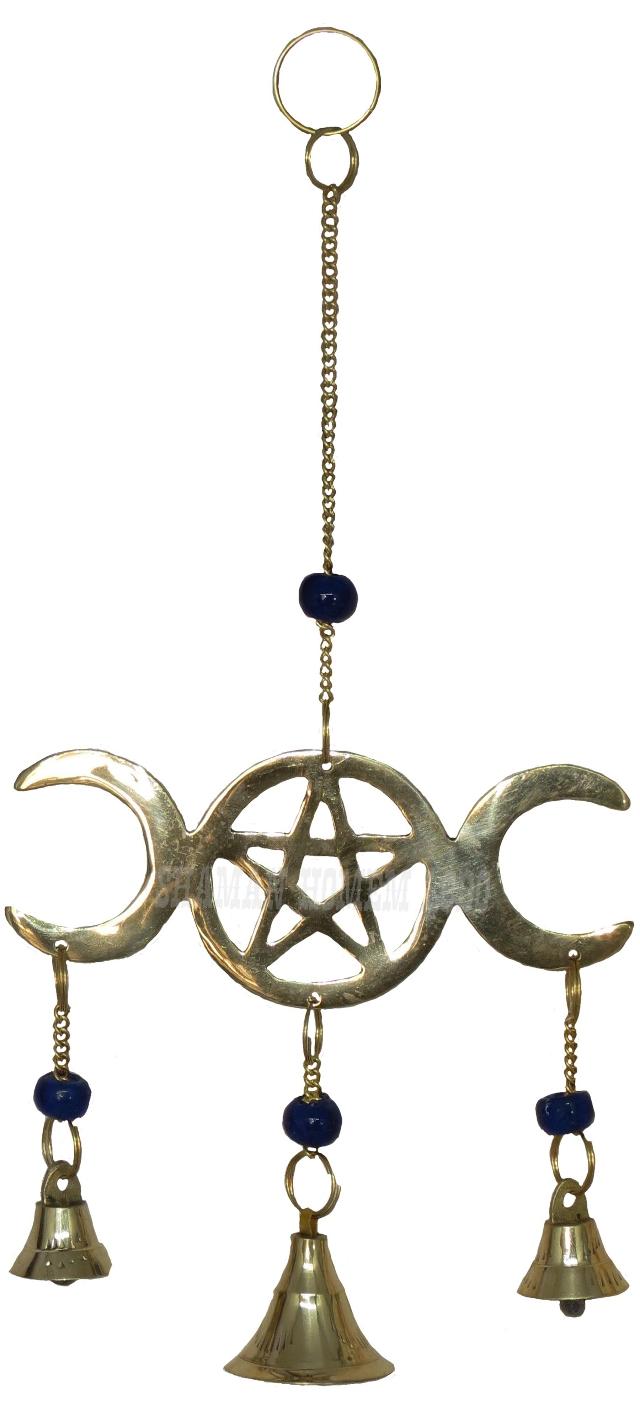 Sino dos Ventos Lua Triplice Wicca em Metal Importado (1009)