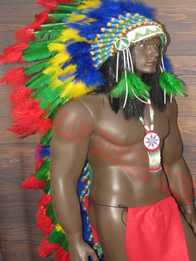 Cocar Indigena Longo Fast Arrow 2