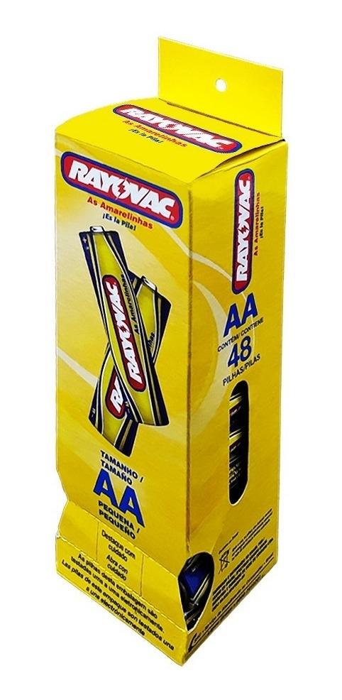 Pilha Pequena AA Rayovac - caixa 48 un