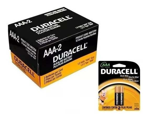 Pilha Palito Duracell AAA2 - caixa 12x2 un