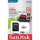 Cartão de memória micro SD 32GB Sandisk Ultra - Classe 10 - 80 MB/s - microSDXC UHS-I