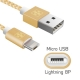 Cabo 2 em 1 Lightning 8p e micro USB (iPhone e Android)