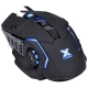 Mouse Gamer Vx Gaming Galática Preto LED Azul