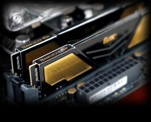 Memória 8GB DDR4 2400Mhz Team Group Elite Plus Black & Golden