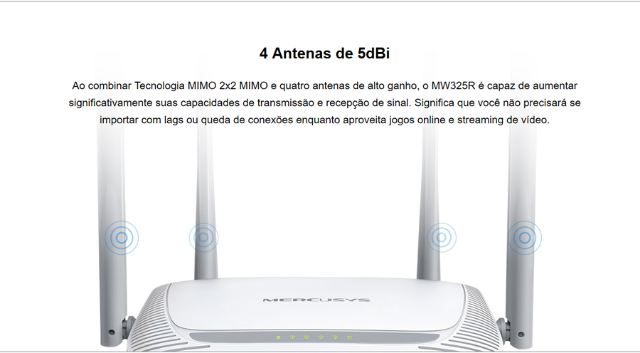 Roteador Mercusys Wireless N 300Mbps MW325R