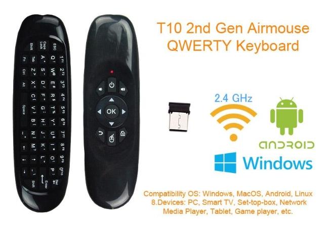 Air Mouse Wireless com Controle Remoto de TV para