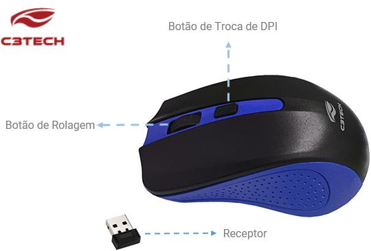 Mouse Sem Fio C3TECH M-W20 NANO RECEPTOR AZUL?cache=2020-09-21