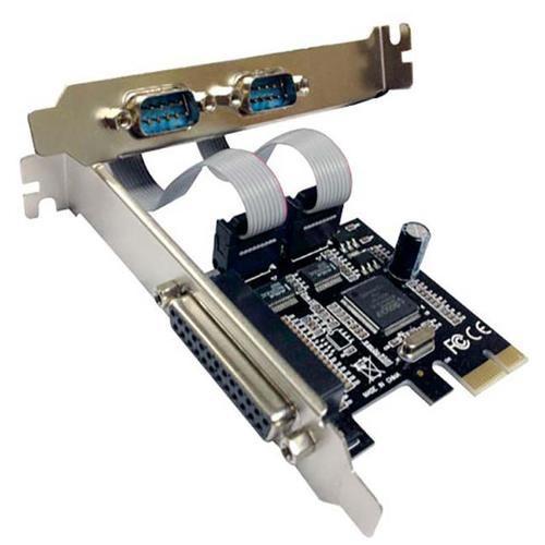 Placa PCI-Express com 2 Saídas Serial e Paralela (2seriais DB9, 1 paralela DB25)