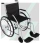 Cadeira de Rodas CDS 101 c/ pneus MACIÇOS até 85KG