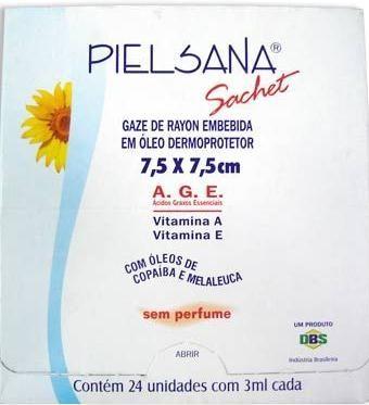 Pielsana 24 Sachet Rayon com óleo AGE 5ml 7,5 X 15 cm