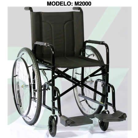 Cadeira de Rodas M2000 Pneus INFLÁVEIS Assento Encosto Almofadado até 85KG CDS