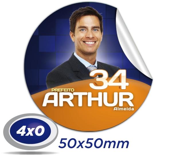 a) 1.000 Praguinhas 5x5cm Papel Adesivo 4x0 cor Meio Corte e Corte Especial