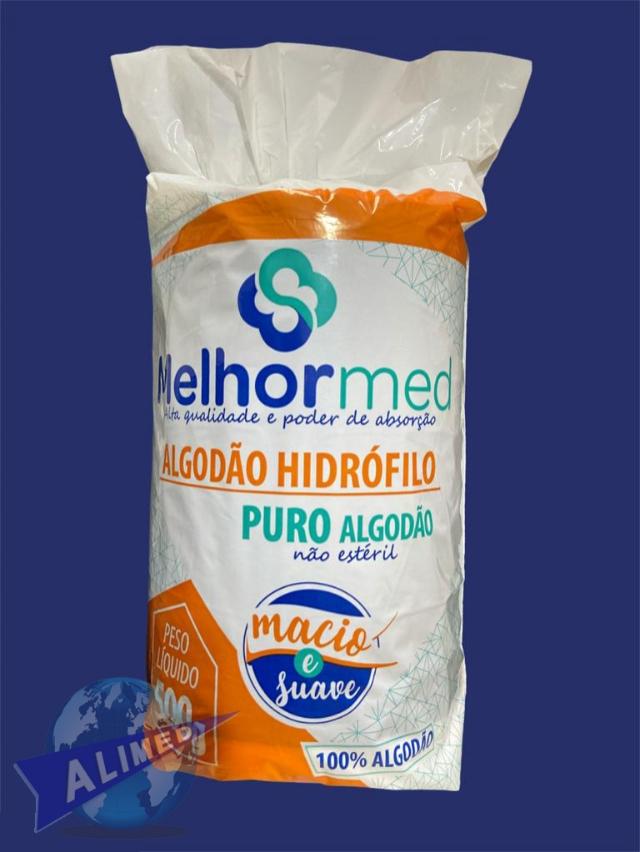 Algodão Hidrófilo 500g - Melhor Med