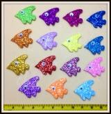 Peixe gliterado adesivo(30unidades)