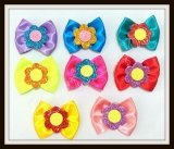 Laços grande flor de eva brilhante(20unidades)