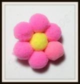 Flor de pom-pom pequena(24unidades)