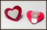 Laço aplique gliterado coração(40unidades)