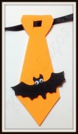 Gravata M de eva com aplique de halloween
