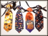 Gravata média estampada de Halloween(20unidades)