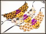Maxi Colar estampada de halloween (12unidades)