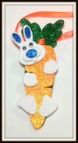 Gravata cenoura com coelho(20unidades)