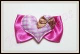 Laço especial para orelha ou topete coração(12unidades)
