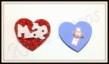 Laço coração de Mãe em eva(30unidades)