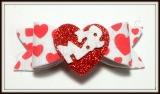 Laço G de eva estampado coração de Mãe(10unidades)