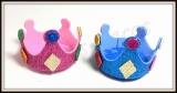 Coroa gliterada de carnaval(12unidades)