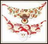Maxi Colar estampada de Natal com aplique(12unidades)
