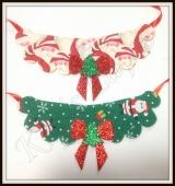 Maxi Colar estampada de Natal(12unidades)