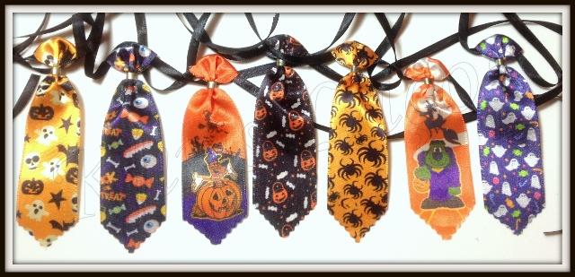 Gravata para cães média estampada de Halloween
