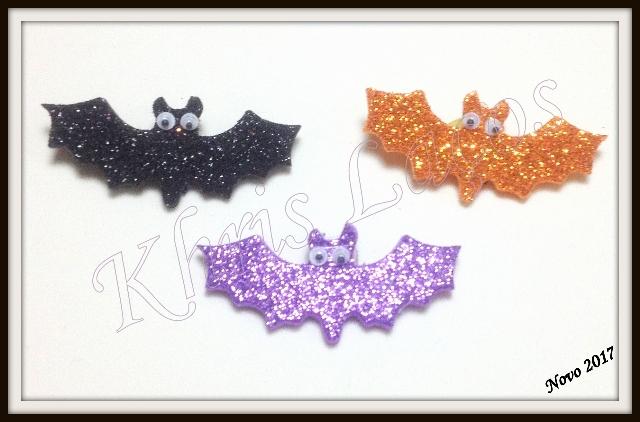 Laço para cães aplique de eva gliterado Morcego