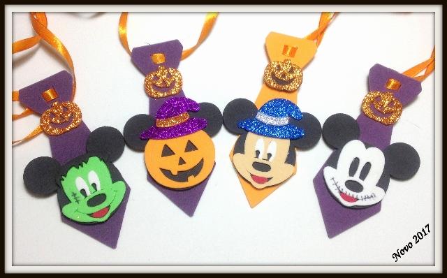 Gravata M ratinho de hallowen (12unidaes)