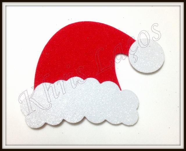 Gorro G de Papai Noel para topete para pet
