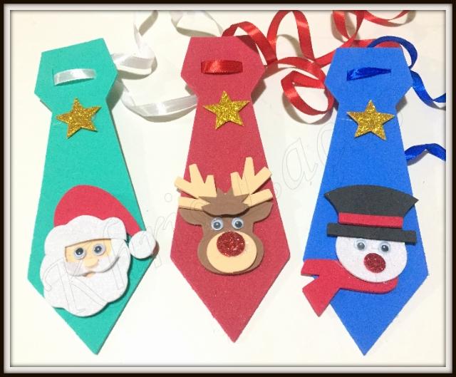 Gravata  GG com aplique de Natal(12unidades)