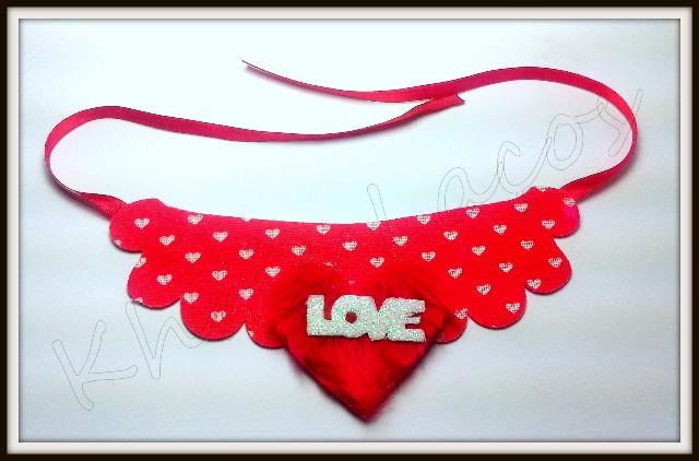Gargantilha maxi colar Love(12unidades)