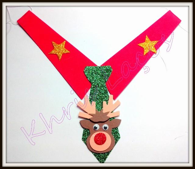 Colarinho de natal com gravata(20unidades)