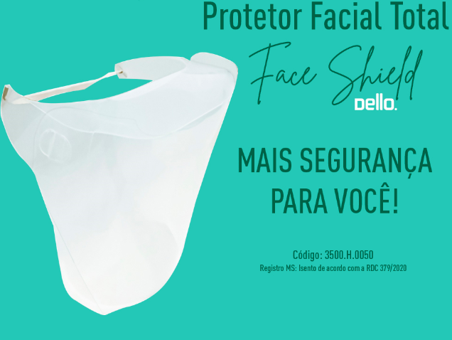 PROTETOR FACIAL TOTAL - FACE SHIELD