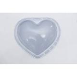 Forma PVC Silicone Coração Liso 1kg Ref.47 - BWB
