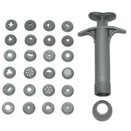 Ejetor ou extrusora para Biscuit com 24 peças Prata