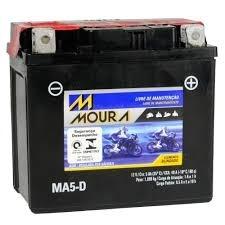 Bateria de Moto Moura Ytx7l-bs 6Ah 12v Selada (Ma6-D)