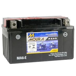 Bateria Moura Moto 6Ah 12V – MA6-E ( Antiga MA7-E ) – Selada AGM ( Ref. Yuasa: YTX7A-BS )