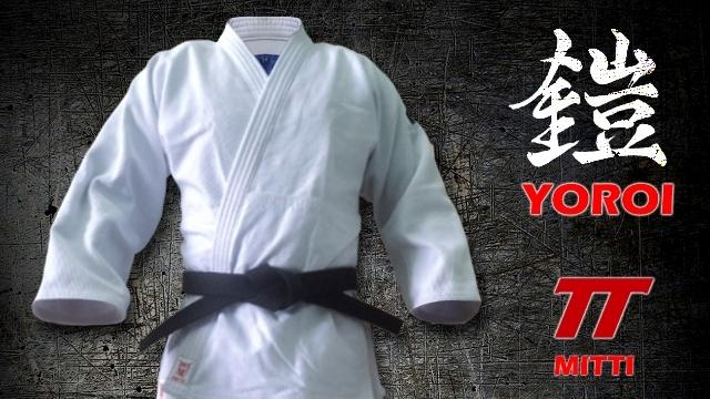 Judô gi (Kimono) branco modelo Yoroi Technics tamanho A2,5 - 3- 3,5 + Faixa 11 costuras